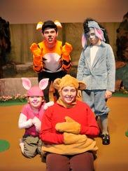 Playing Pooh is Ella Niederreiter, Piglet is Joshua