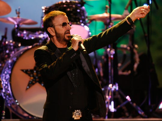 Ringo Starr performs at The Show in Rancho Mirage in 2010.