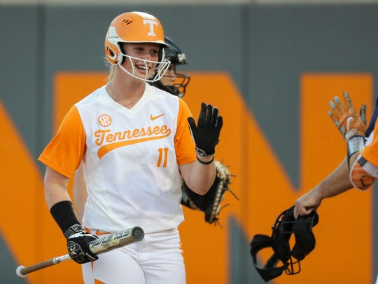 Haley Bearden had a career-high three RBIs in Tennessee's