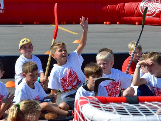 The Detroit Red Wings Summer Street Hockey Tour hosted Monday, July 18, 2016 at Meijer in Acme, MI.