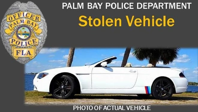 Palm Bay police seek this stolen 2006 BMW convertible.
