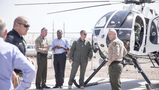 Dr. Ben Carson, the neurosurgeon running for the Republican presidential nomination toured smuggler routes in Pinal County on Wednesday.