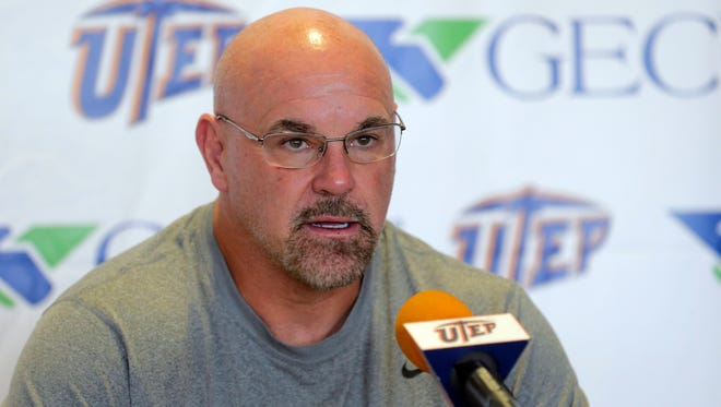 UTEP head coach Sean Kugler