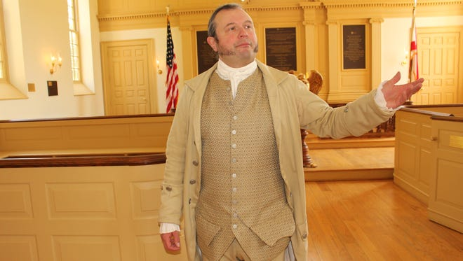 Historical interpreter William Stewart will portray Patrick Henry during Independence Day celebration at the American Village.