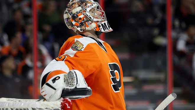 Goalie Steve Mason is the first Flyer to get No. 1 star honors on the team since Jake Voracek in February 2013.