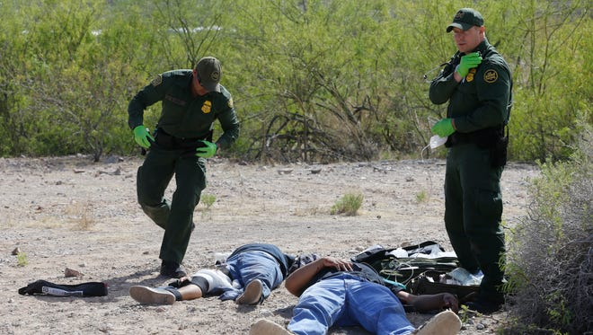 """U. S. Border Patrol Sector Chief Aaron Hull and representatives from several agencies participated in the 21st annual """"Border Safety Initiative Awareness Campaign"""" on Tuesday in an effort to raise awareness on both sides of the international border. The campaign is designed to warn border residents about extremely dangerous situations that can be encountered when illegally entering the United States. A simulated rescue demonstration by U.S. Border Patrol Agents, emergency medical technicians, Border Patrol Search Trauma and Rescue Team and the El Paso Branch of Air and Marine Operations was performed Tuesday morning in the Anapra neighborhood in Sunland Park, N.M."""