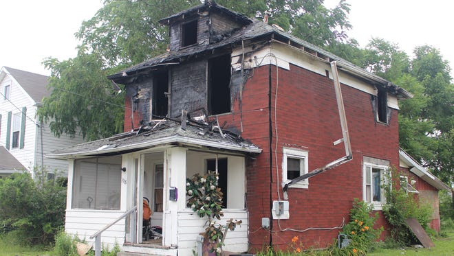 The house at 198 Nye St. caught fire Tuesday night. The entire second story was engulfed in flames when firefighters arrived on scene, said Marion City Fire Platoon Chief Paul Glosser.