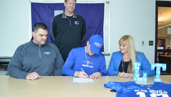 Lakeview standout Cam Gillette signs with Lawrence Tech University on National Signing Day on Wednesday.