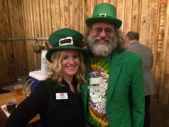 Ariana Vandenburgh and Mayday Brewery owner Ozzy Nelson