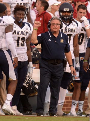 Akron coach Terry Bowden, the son of former Florida State coach Bobby Bowden, has led the Zips to their second bowl game in history.