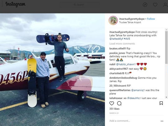 James Pedroza recently acquired part ownership of the plane that crashed Monday night in Scottsdale, according to his Instagram page.