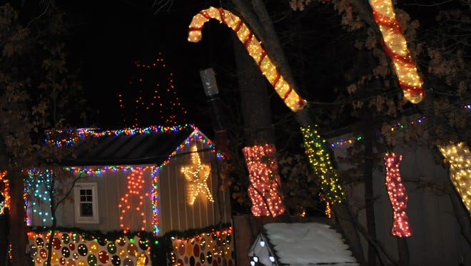 The Upper Canyon sparkles with glimmering Christmas decorations.