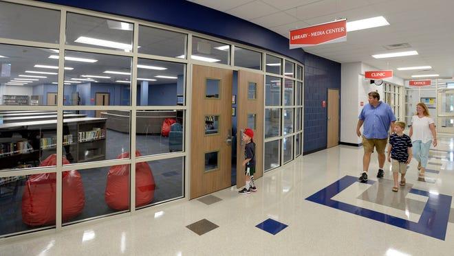 Jordan Elementary School library and media center, Sunday, August 5, 2018, in Brentwood, Tenn.