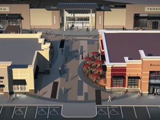 Plans for the new Marketplace Outlets.