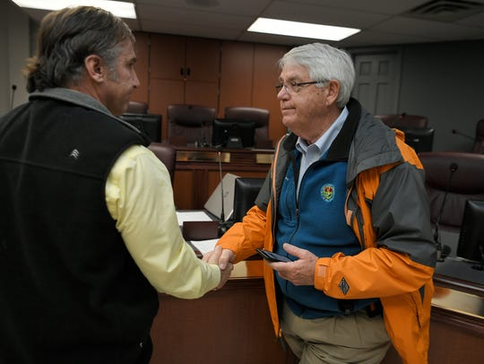 Williamson County Director of Schools Dr. Mike Looney is pictured with Williamson County Mayor Rogers Anderson.