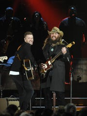 Justin Timberlake, left, and Chris Stapleton bring