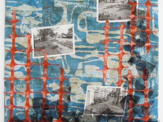 """Linda Bachman's art quilt is part of the new """"Reflections"""