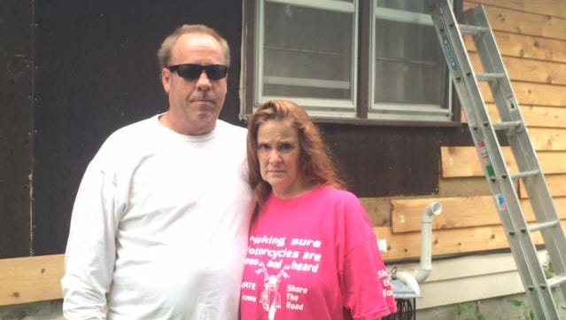 Kevin Johnson and Connie Hyden have been involved in a protracted battle with landlord Larry Hughes over a Carlisle home they rented that they later found to be infested with mold. Both became ill after moving into the house.