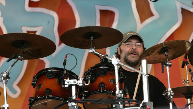 Widespread Panic drummer Todd Nance performs during the 2008 New Orleans Jazz & Heritage Festival at the New Orleans Fairgrounds Racetrack in New Orleans, Thursday, May 1, 2008.