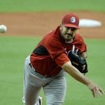 Jason Marquis allowed just one hit over five innings in the Reds' 2-0 victory over the Blue Jays in Montreal.