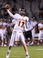 Tulare Union quarterback Nathan Lamb passes against El Diamante in a non-league high school football game on Friday, September 1, 2017.
