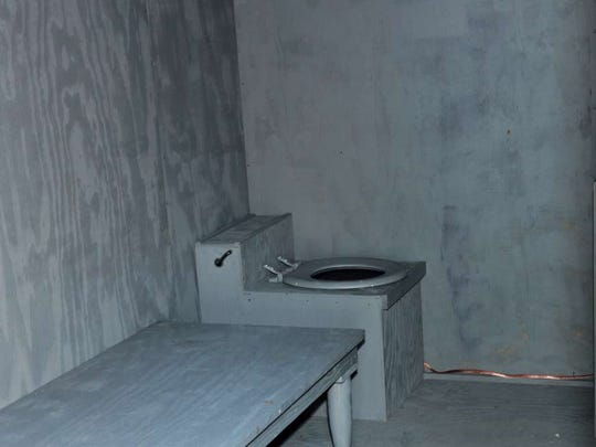 Replicas of a solitary confinement cell like this one have been used by advocates in arguing the importance behind limiting solitary.