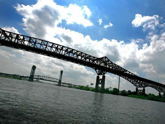 Bridges spanning from Jersey City to Newark.