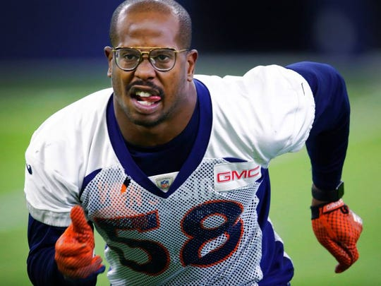 Broncos star outside linebacker Von Miller could wreck the game Sunday night against the Giants.