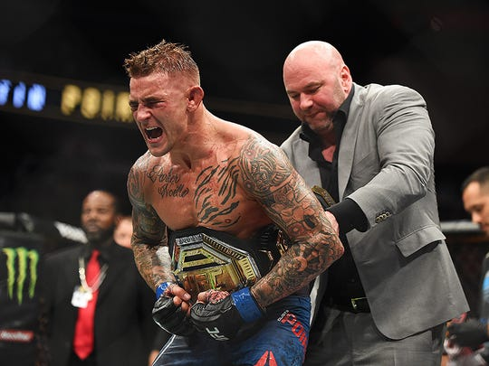 Dustin Poirier defeated Max Holloway for the UFC interim lightweight championship on Saturday night at UFC 236 in Atlanta. USA TODAY Sports