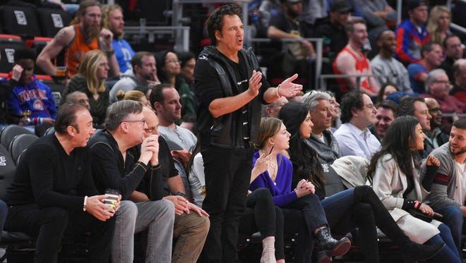 Detroit Pistons owner Tom Gores during the game against the Chicago Bulls at Little Caesars Arena on Friday, March 9, 2018.