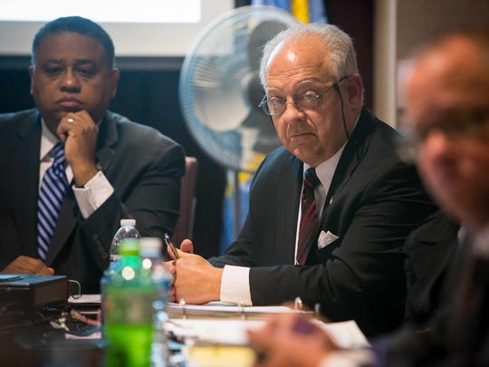 New Castle County Councilman Robert S. Weiner attends the New Castle County Council Executive Committee as they discuss the $3 million that Tom Gordon wants to give to the private company that is planning to open a stock exchange in Wilmington.