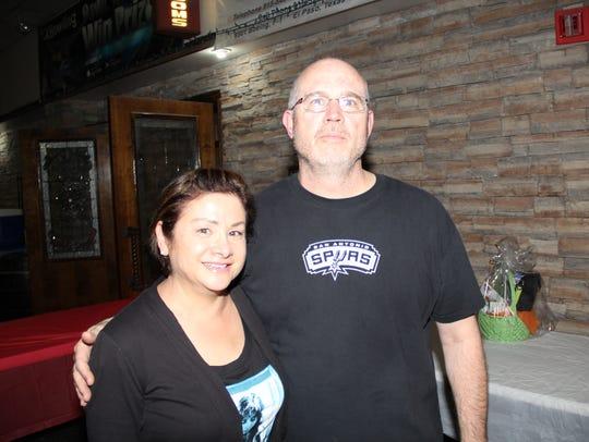 Cindy Wilson, left, and Russ Wilson