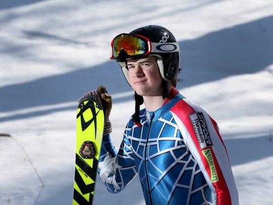 AGR Alpine Skier of the Year, Pittsford's Max Hopfinger,