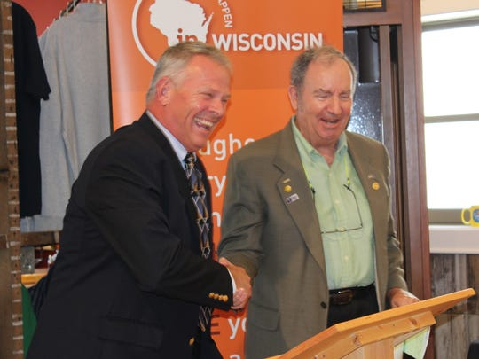 Kerry Henning (left) 1st Vice President of the Wisconsin