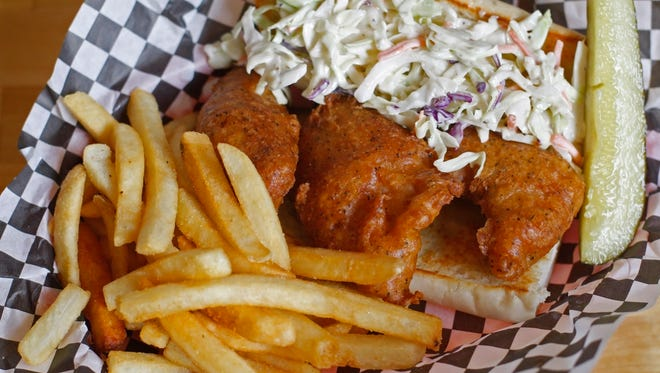 Fish Po'boy is one of the entrees available at the Acme Cafe, in South Salem.