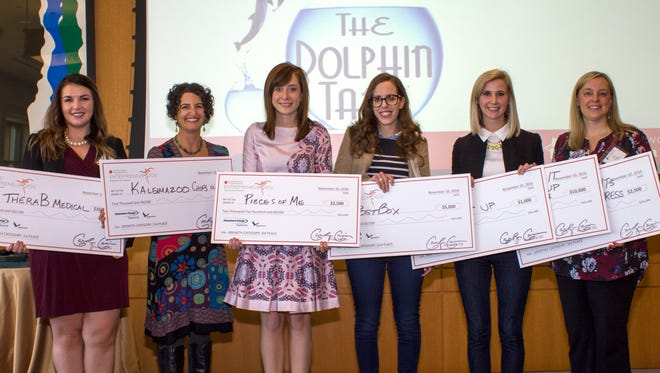 The Dolphin Tank's 2016 winners awarded by the Michigan Women's Foundation.