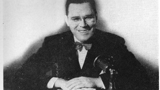 Frank Bruce, 1945: Frank Bruce was a legendary radio broadcaster in addition to being a prominent attorney in the city of Tuscaloosa.