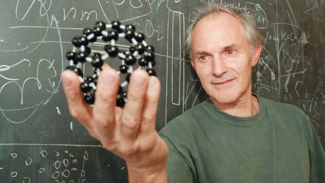 English chemist and current FSU professor Harry Kroto