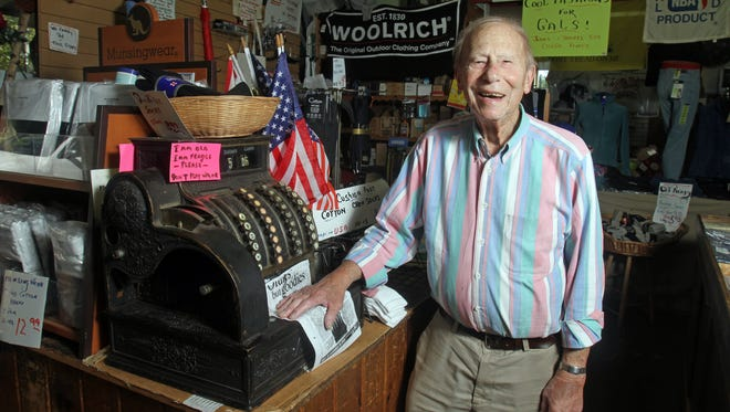 Mel Liebmann, the longtime owner of Mel's Army and Navy Center in Pearl River, died on Monday. He is pictured in his store Sept. 12, 2012.
