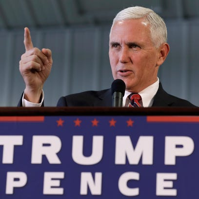 Republican vice presidential candidate, Indiana Gov.