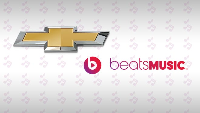 Chevrolet announced Friday at the South by Southwest music festival that it will expand its in-vehicle entertainment offerings by integrating the new Beats Music