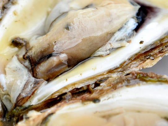 Raw oysters are shown during Oyster Festival Heritage