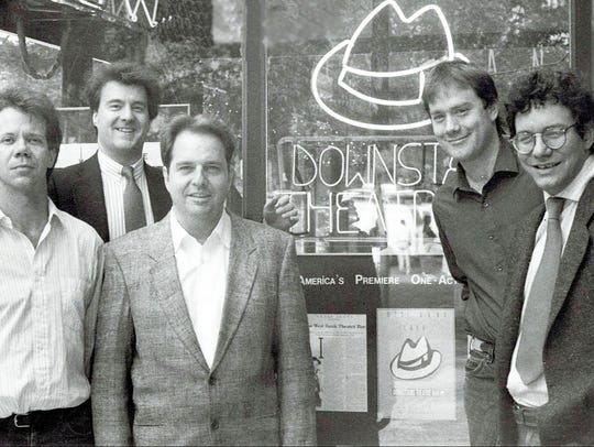 Lewis Black, right, in the early 1980s outside the