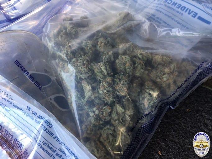 Keizer police seized marijuana from a nuisance drug