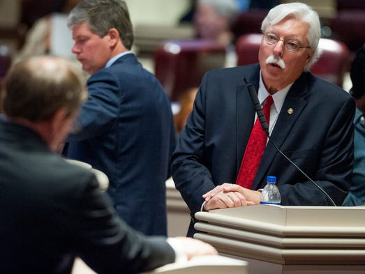 Rep. Alan Harper, R-Northport, takes part in discussion