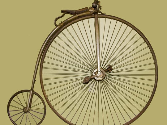 Penny farthing bicycle, 1884-85, Pope Manufacturing Co., Hartford, Connecticut.