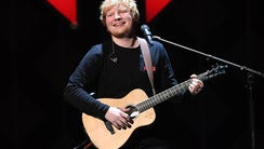 Ed Sheeran performs at the Z100's iHeartRadio Jingle