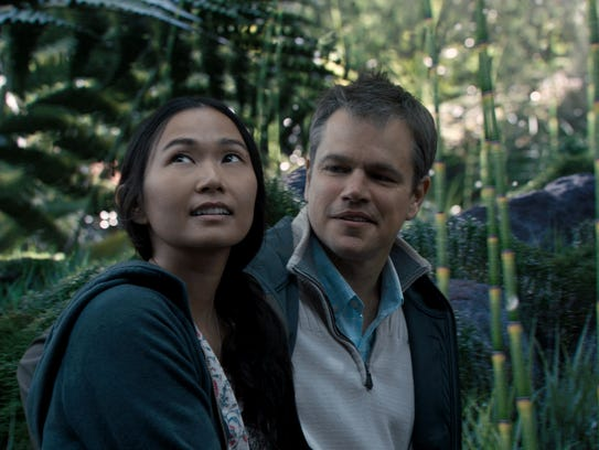 Matt Damon plays Paul Safranek and Hong Chau plays