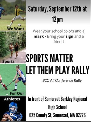 This poster, encouraging people to attend a rally encouraging the South Coast Conference to stage fall 2020 sports, has gained some traction on social media.
