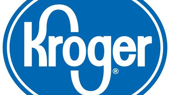 Kroger logo in blue on white background.